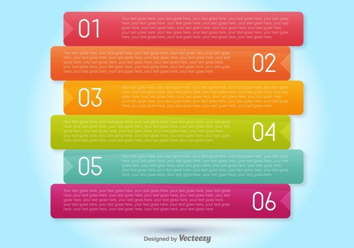 Bannières de progression vectorielle pour six étapes vecteur