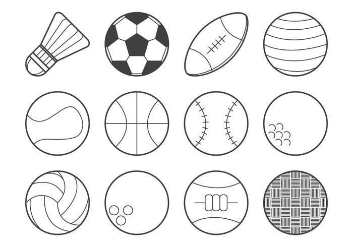 Vecteur d'icône de balle de sport gratuit