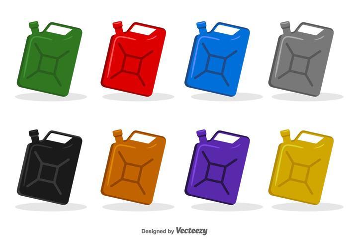 Boites d'icônes d'huile moteur - Ensemble de vecteur