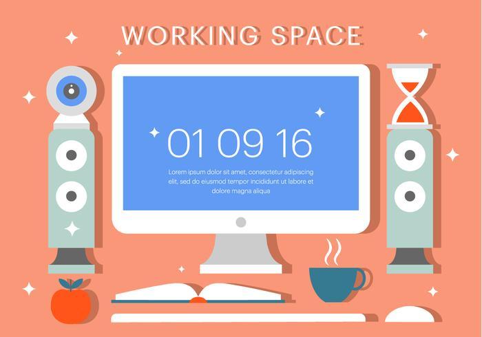 Illustration vectorielle gratuite de l'espace de travail vecteur