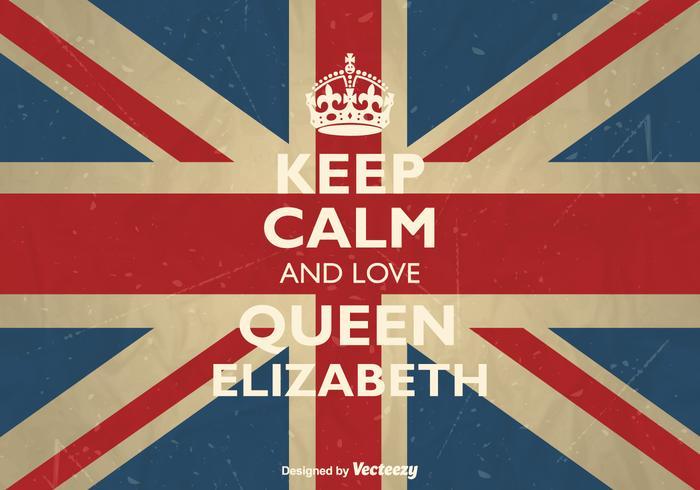 Vecteur libre reste calme et aime la reine elizabeth