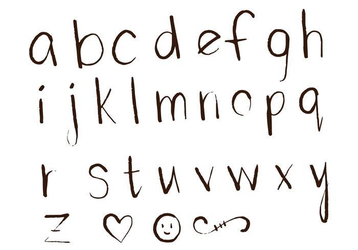 Lettres Alphabet Set D vecteur