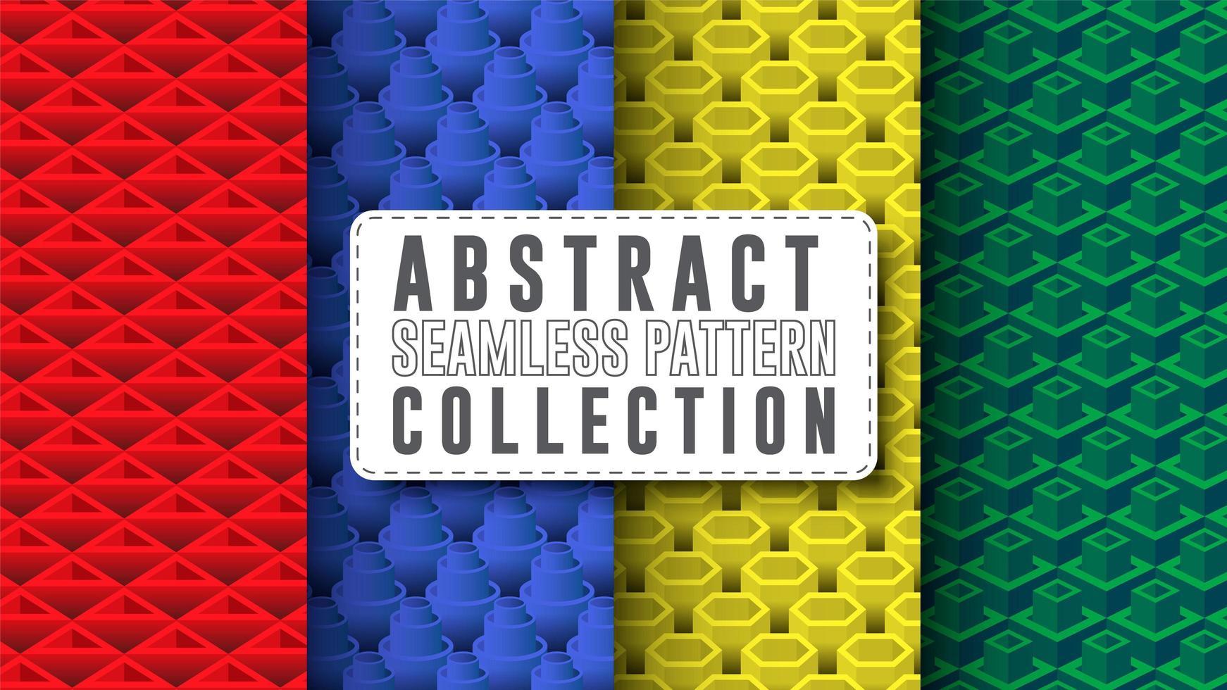 collection de motifs abstraits et géométriques sans soudure vecteur