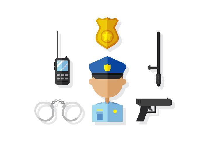 Vector Police Man et Elements