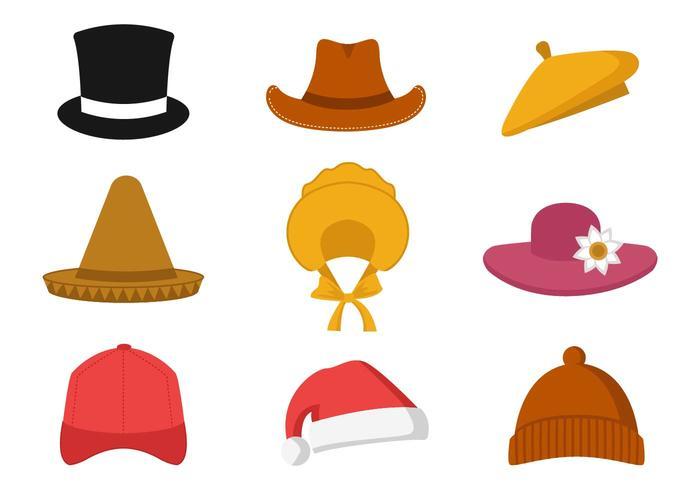 Collection gratuite de vecteur de chapeau