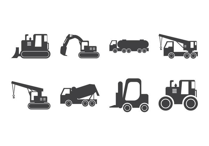 Vecteur de silhouette de véhicule de construction gratuit