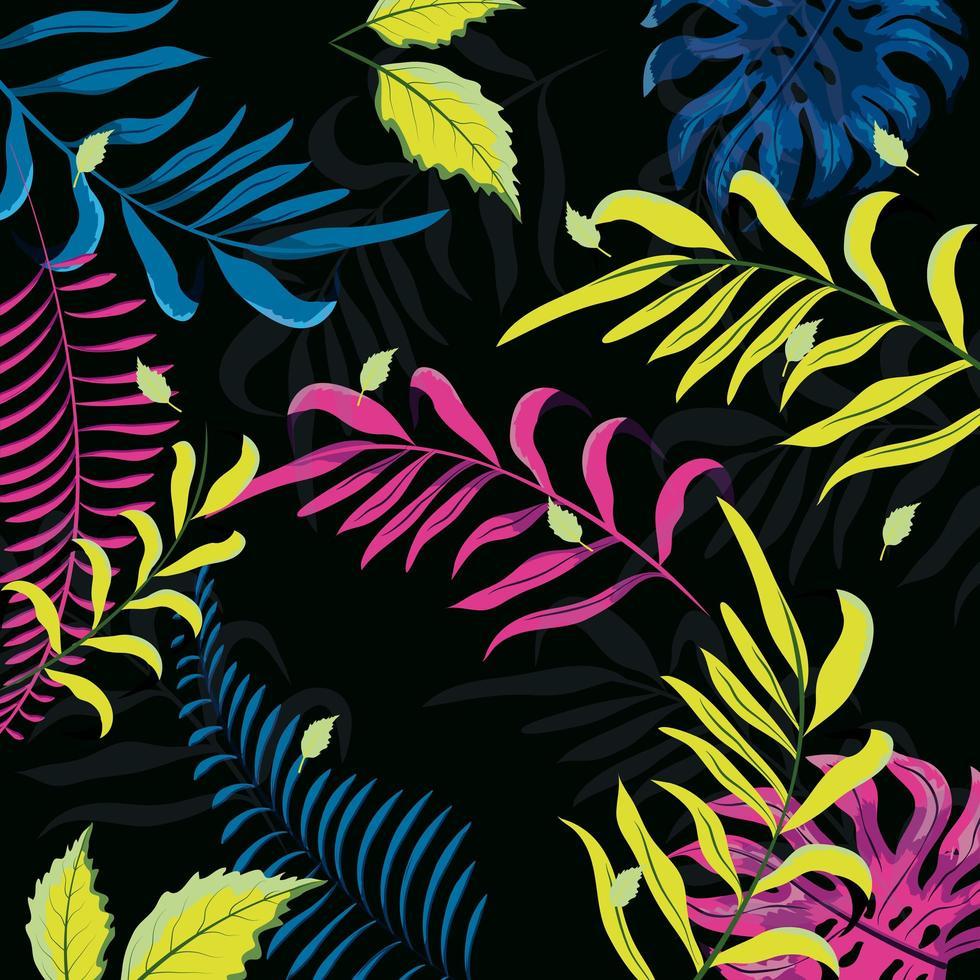 fond de motif floral coloré vecteur