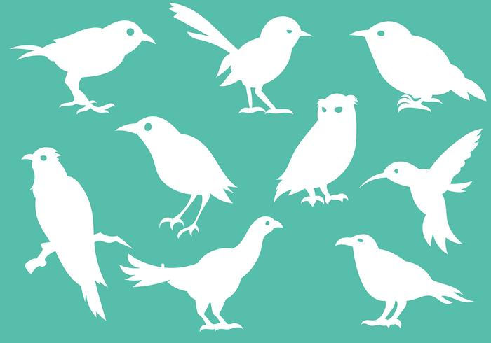 Vecteur d'icônes de silhouette d'oiseau gratuit