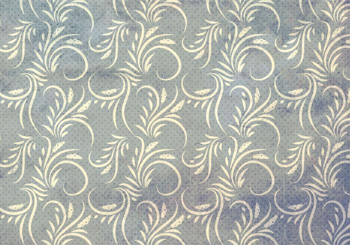 Grey Vector Western Flourish Seamless Pattern
