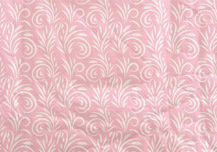 Pink Seamless Pattern Flore Océan vecteur