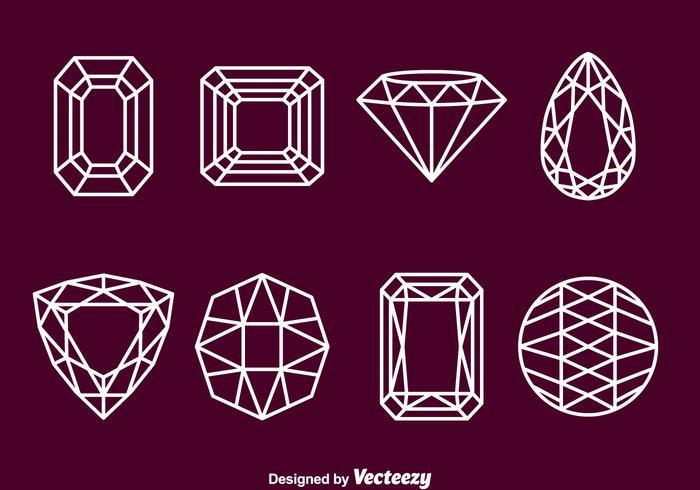 Icônes de contours de pierres vecteur