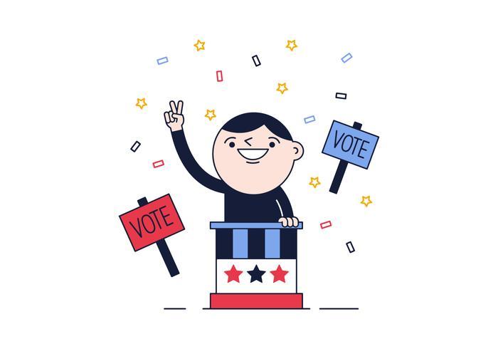 Vecteur de vote politique gratuit