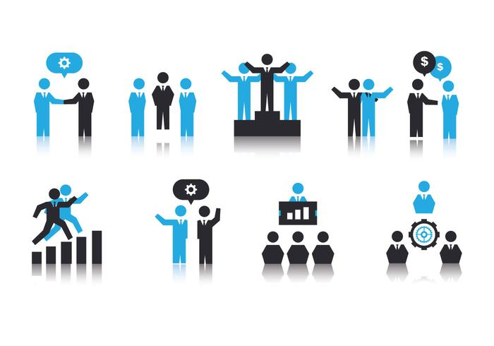 Free working together icons vecteur