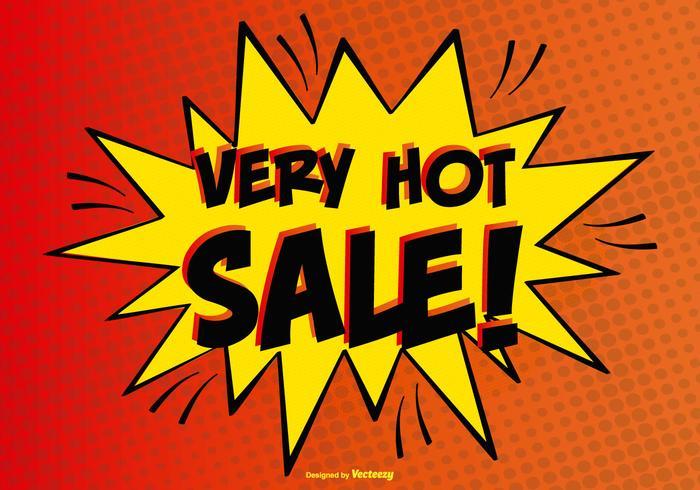 Illustration comique de vente chaude vecteur