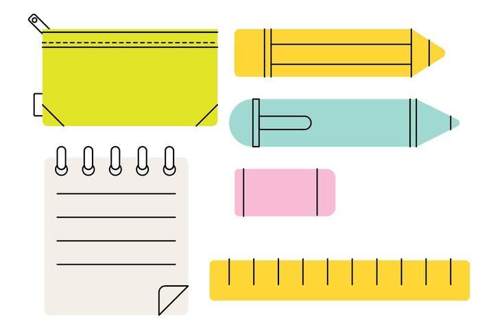 Boîte à crayons Stylized Vector