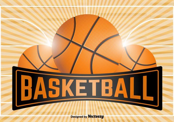 Modèle d'emblème de basketball - Vector