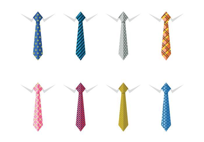 Cravates en soie pour hommes vecteur
