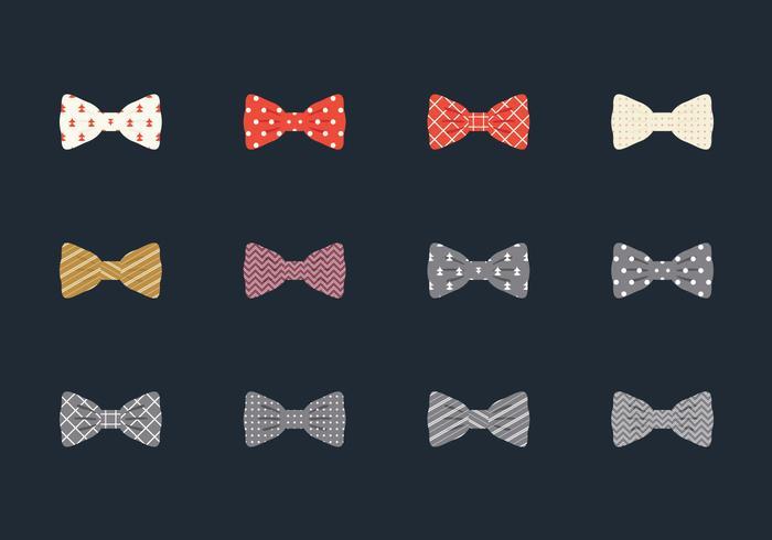 Illustration set of bow tie vecteur
