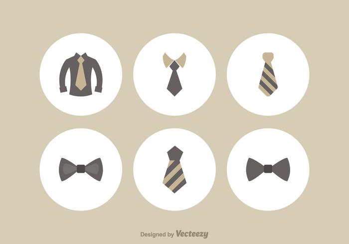 Ensemble d'icônes vectorielles Cravat gratuit vecteur