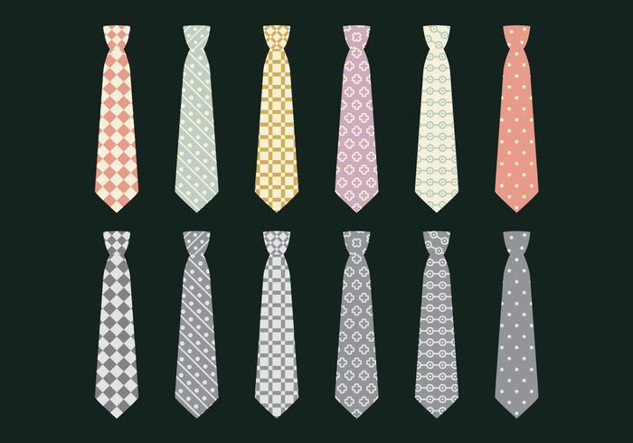 Cravate Set d'icône vectorielle vecteur