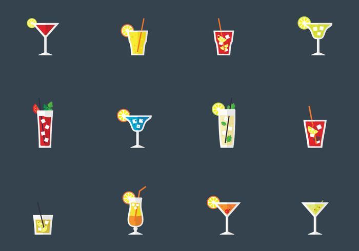 Boissons alcooliques et cocktails vecteur