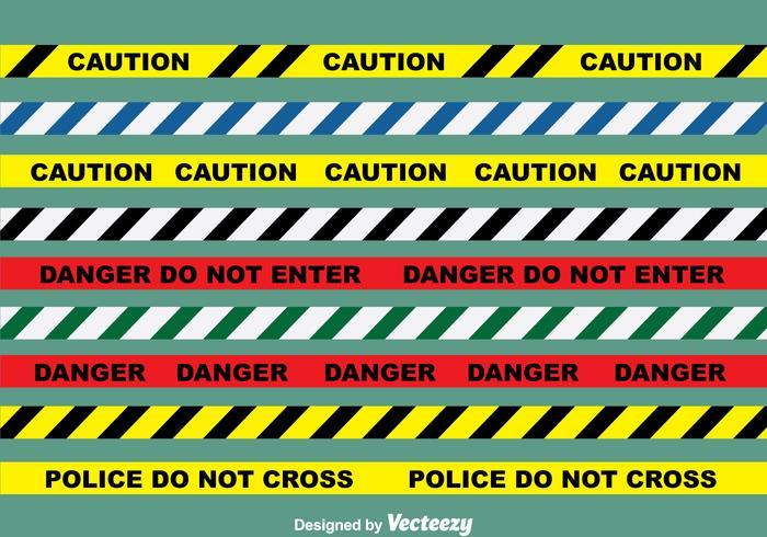 Ensemble vectoriel de ligne de danger