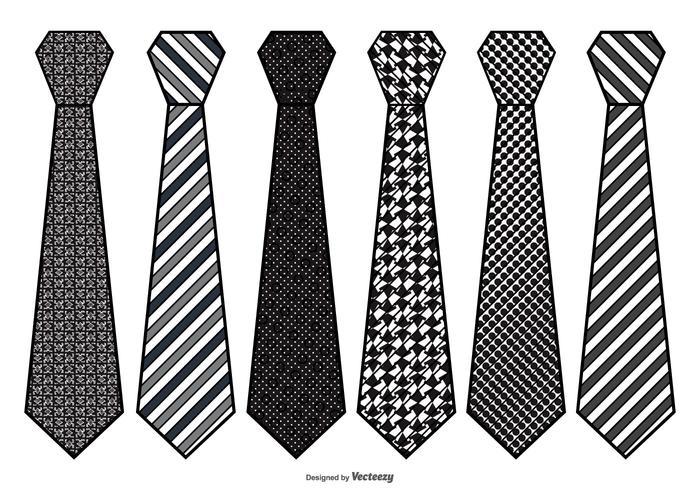 Ensemble cravate pour hommes vecteur