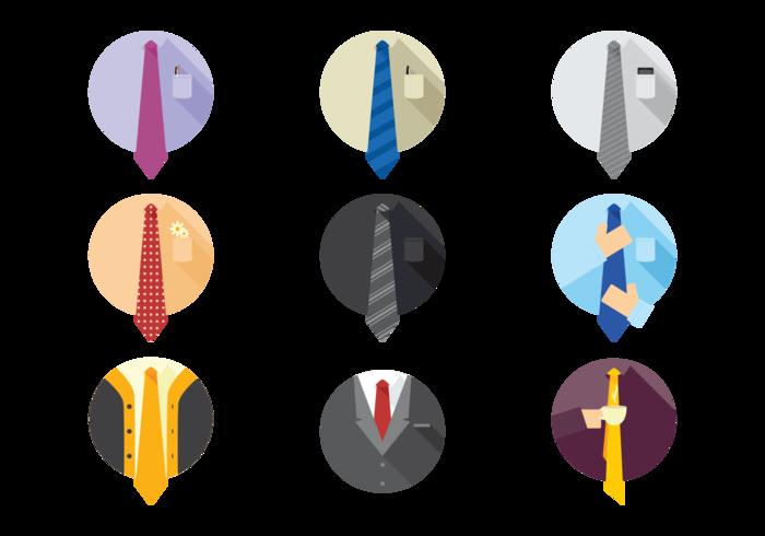 Icônes de cravate vectorielle vecteur