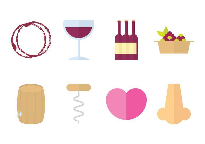 Icône de vin design plat vecteur