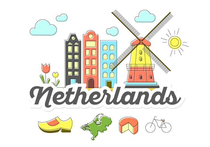 Icônes néerlandaises vecteur