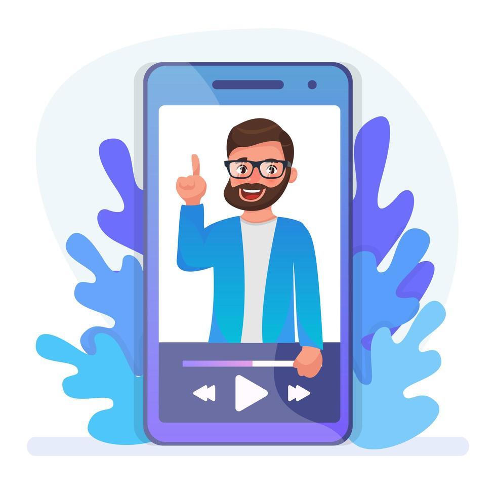 conception de conférence mobile vecteur