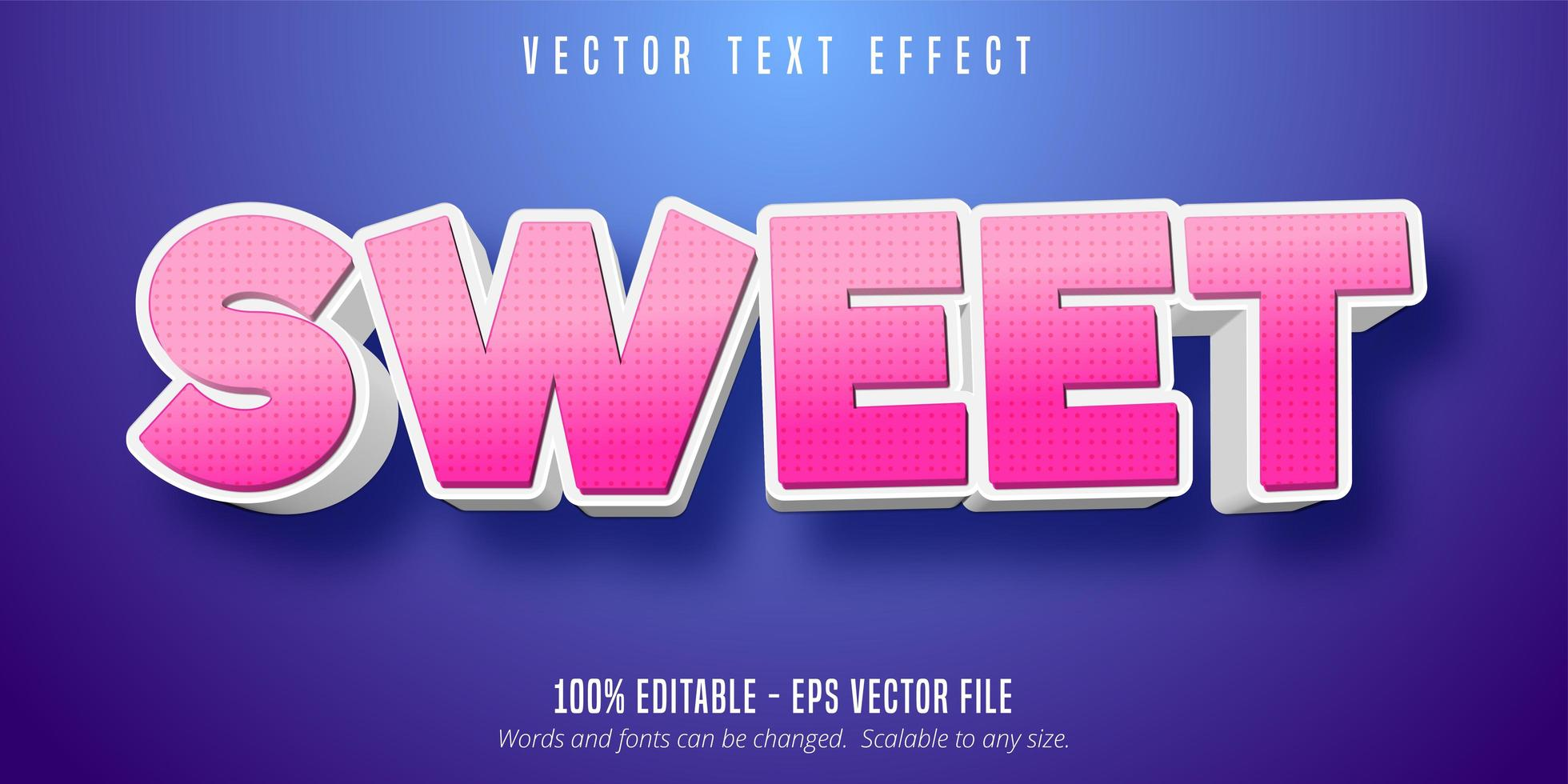 effet de texte modifiable de style dessin animé vecteur