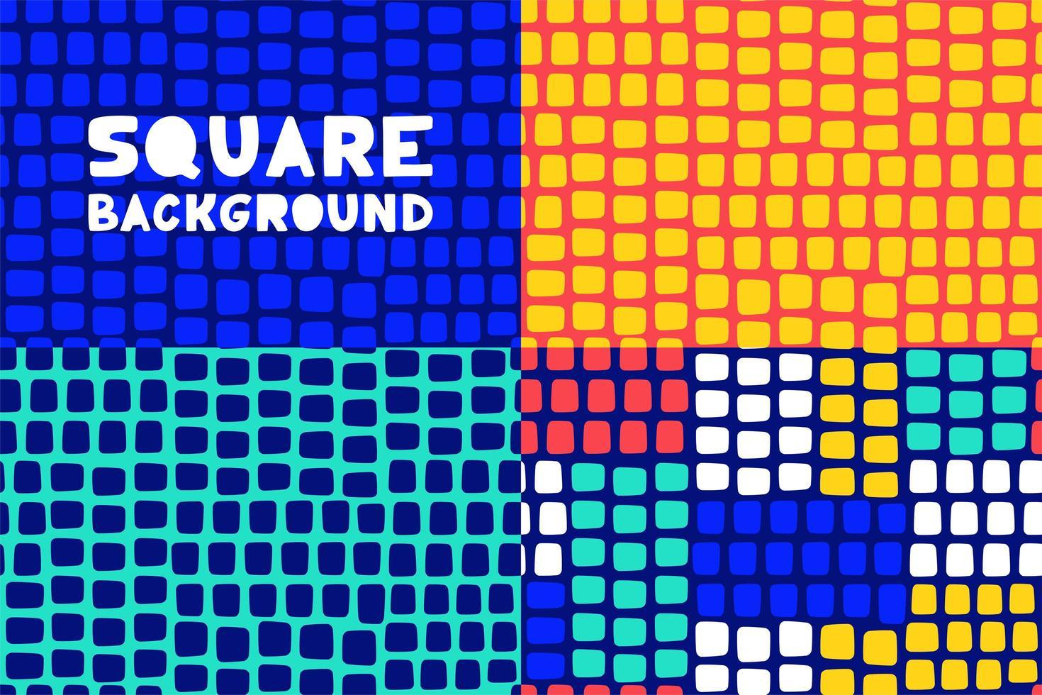 ensemble de motifs sans soudure carrés géométriques abstraits vecteur