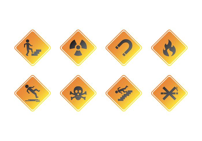 Vecteur d'icône de signe d'avertissement gratuit