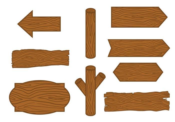 Vecteur de bois à la main dessiné