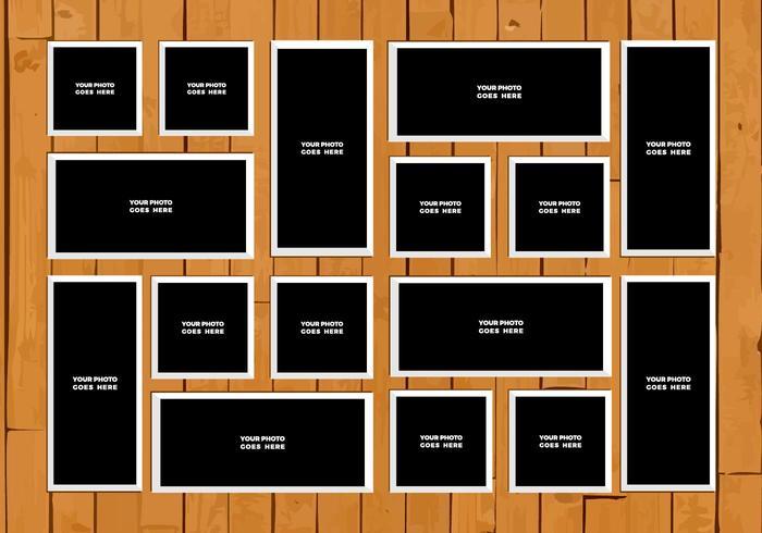Collage libre de photo vectorielle 3 vecteur