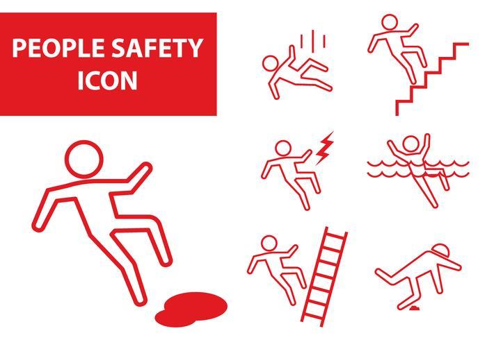 Icône de sécurité des personnes vecteur
