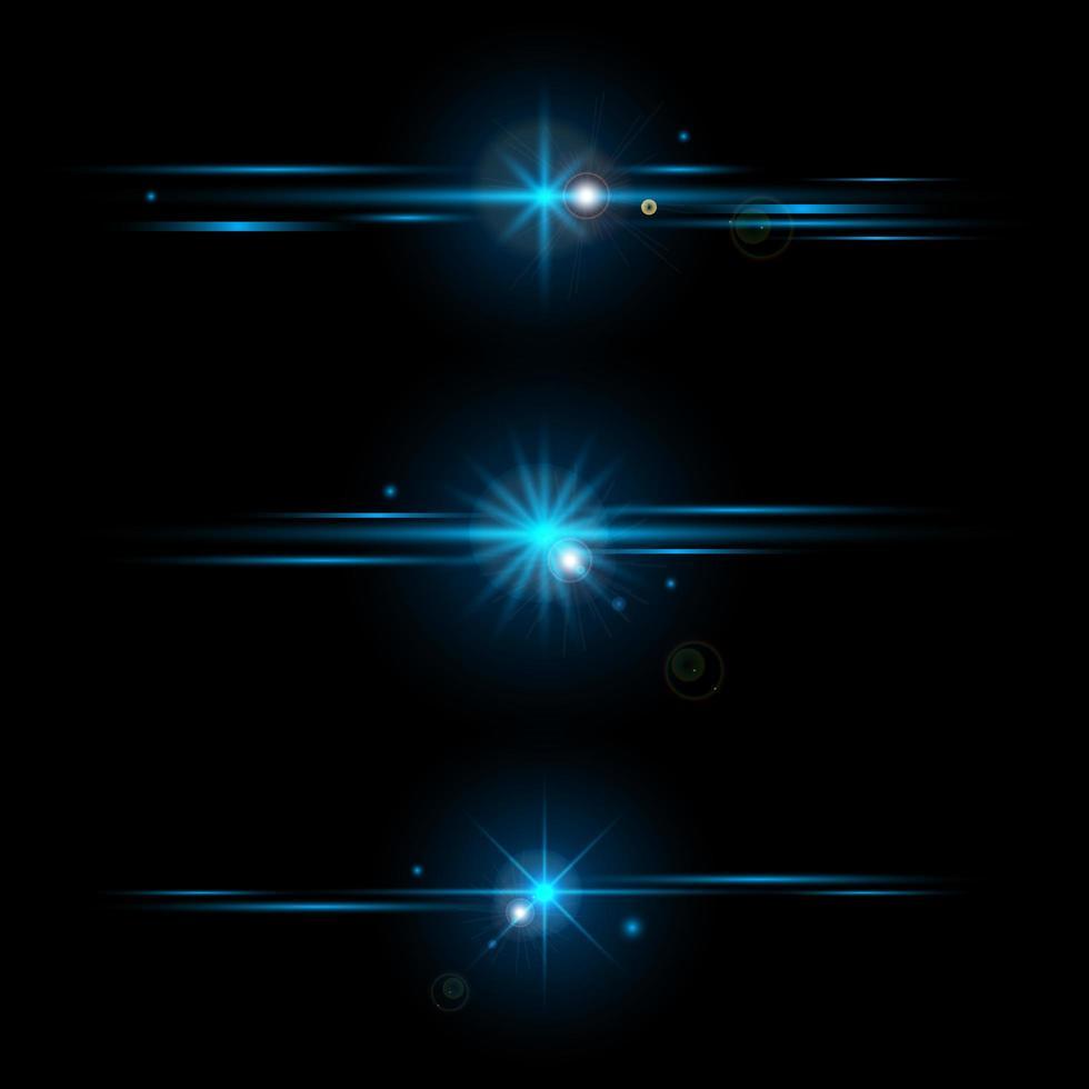 ensemble d'éléments lumineux bleus vecteur