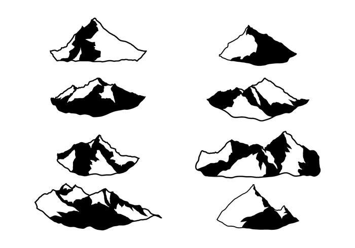Vecteur Everest Silhouette gratuit