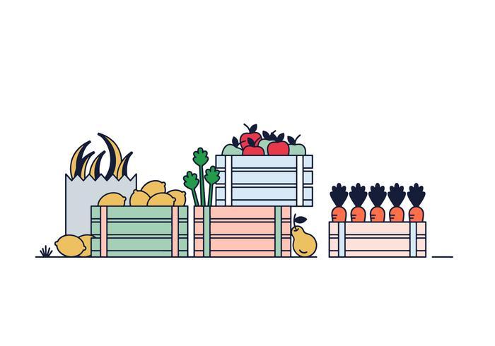 Vecteur d'épicerie verte gratuit