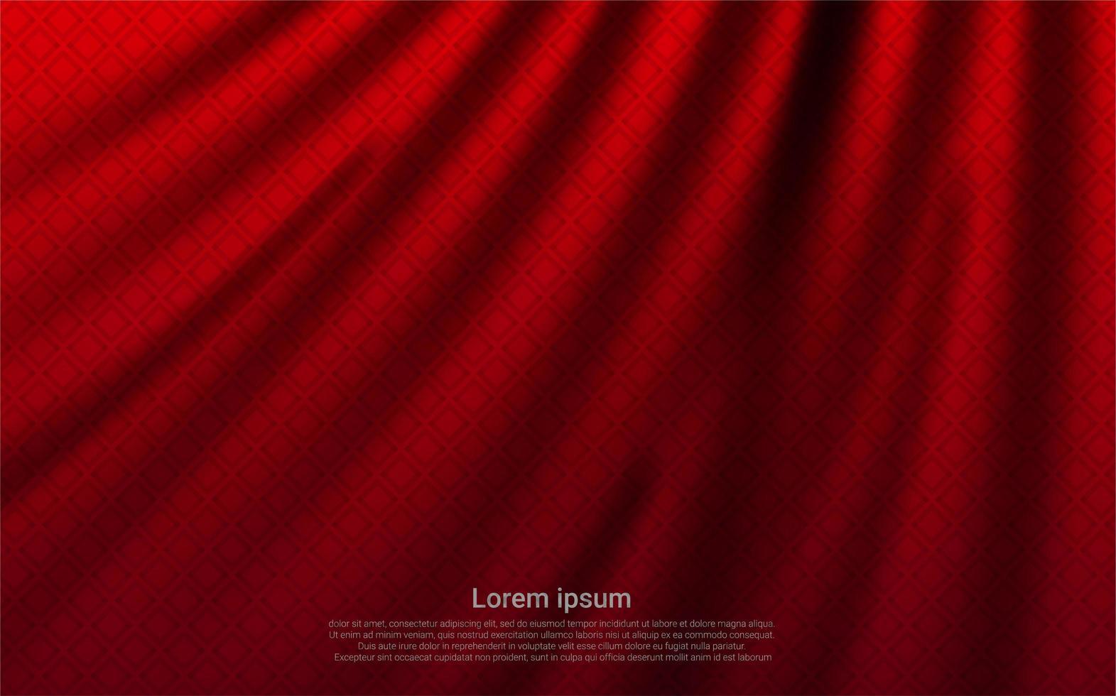 texture de rideau rouge de luxe vecteur