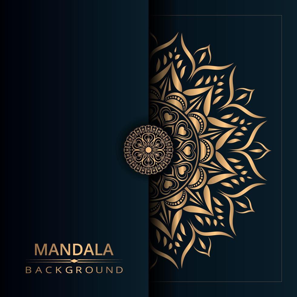 fond de conception de mandala doré vecteur