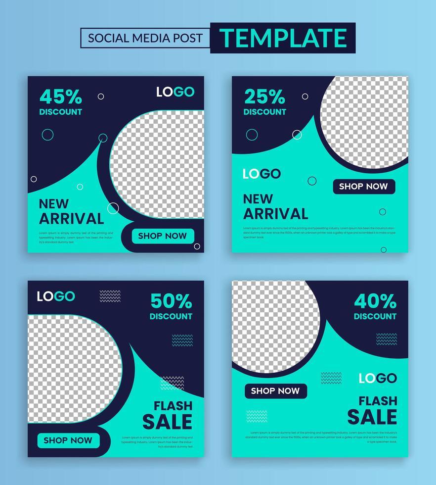 nouveau modèle de médias sociaux d'arrivée vecteur
