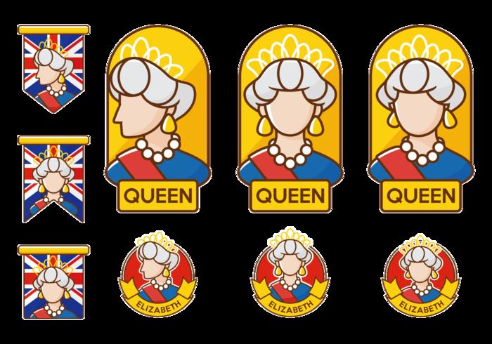 Vecteur reine elizabeth