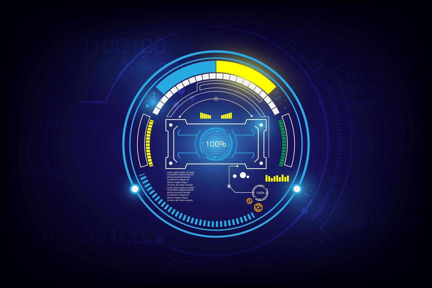 conception futuriste d'écran de chargement de science-fiction vecteur