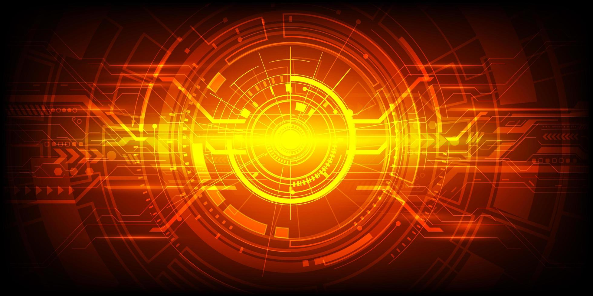 conception de technologie d'ingénierie abstraite rouge et orange vecteur