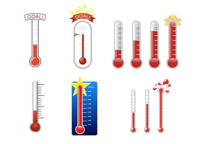 Vecteur thermomètre Goal gratuit