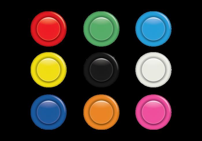 Ensemble de boutons Arcade colorés vecteur