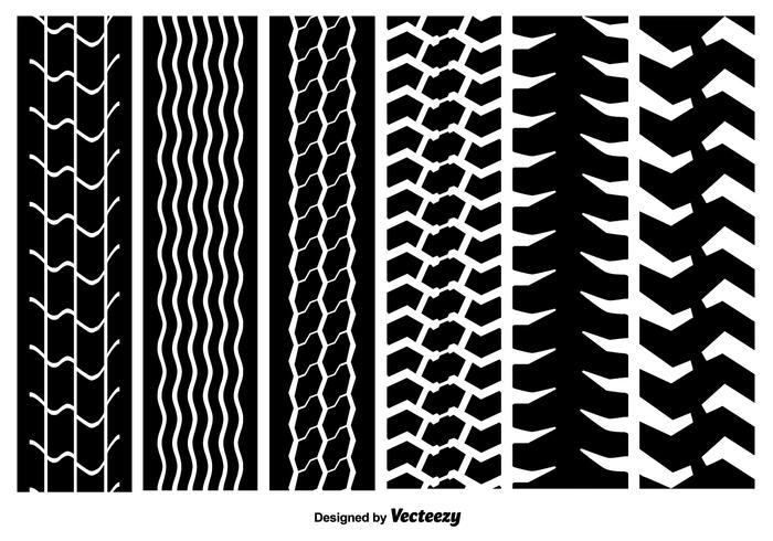 Seamless Tire Marks Textures vectorielles vecteur