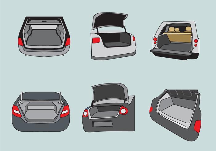Vecteur d'illustration de botte de voiture